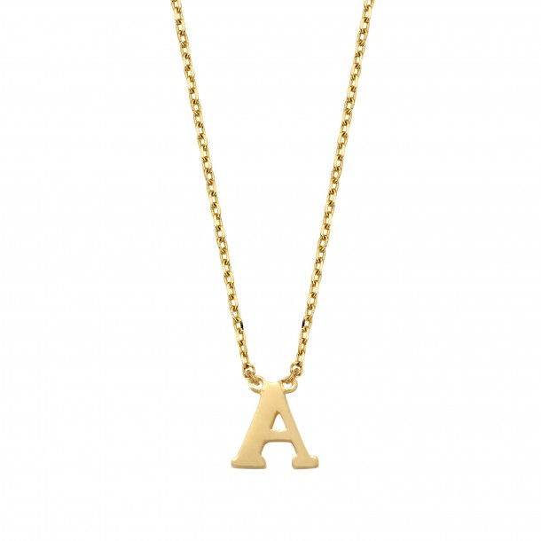 Schneider Goldketterl mit Buchstaben 585/- Gold 81240, 8720143053597