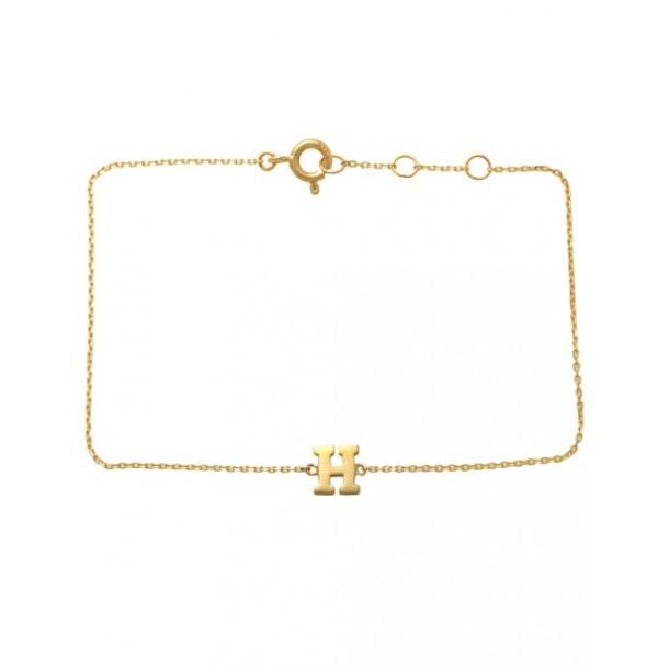 Schneider Armband mit Buchstabe 585/- Gold 81248, 8720143053924