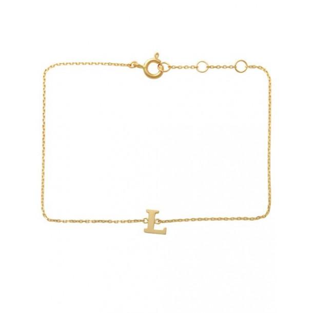 Schneider Armband mit Buchstabe 585/- Gold 81249, 8720143053962