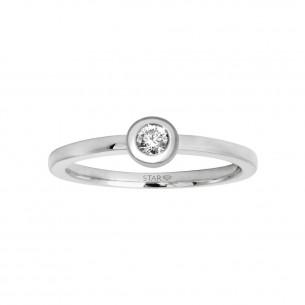 Stardiamant Verlobungsring Weißgold mit Brillant 0.1ct 79980, 9010050019014