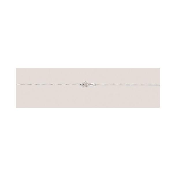 DIADORO Goldkettchen Taufkette Weißgold 14 Karat Venezianerkette L38cm 671, 9120049254910