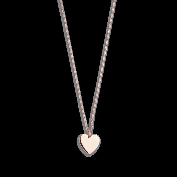Xenox Fashion Halskette mit Herz in 9Karat Rosegold 81369, 9010050053544