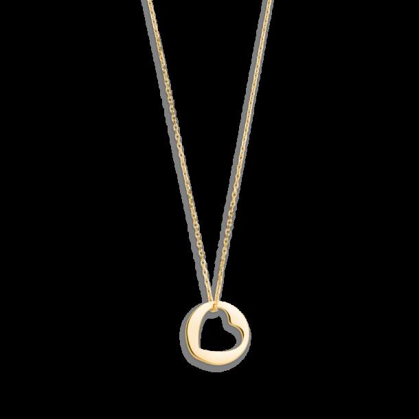 Xenox Fashion Collier mit Herz in 9Karat Gold 81367, 9010050053582