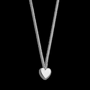 Xenox Fashion Halskette mit Herz in 9Karat Weißgold 81368, 9010050053537