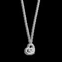 Xenox Fashion Halskette mit Herz in 9Karat Weißgold 81364, 9010050053568