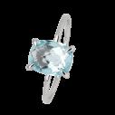 Xenox Fashion Ring mit blauem topas in Weißgold 9Karat 81379, 9010050060146