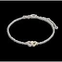 Xenox Fashion Armband mit Herz in 9kt Weißgold mit Diamanten 81372, 9010050053858