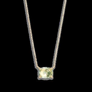 Xenox Fashion Halskette mit grünem Amethyst in 9Karat Gold 81376, 9010050059997