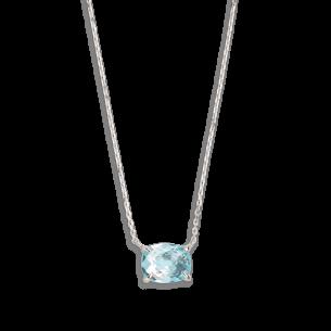Xenox Fashion Halskette mit blauem Topas ca 1.95ct 81375, 9010050059973