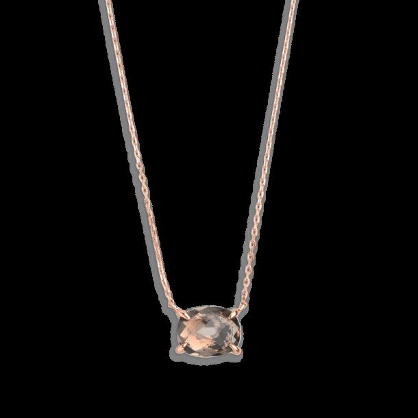 Xenox Fashion Halskette mit Rauchquarz in 9Kt Rosegold 81377, 9010050060023