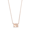 Xenox Fashion Halskette mit Rosenquarz in 9kt Rosegold 81378, 9010050060030