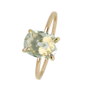 Xenox Fashion Ring mit grünem Amethyst in Gelbgold 9Karat 81380, 9010050060269