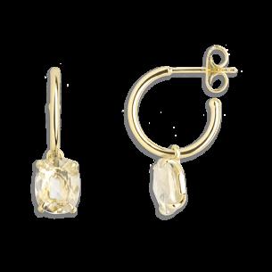 Xenox Fashion Ohrschmuck - Ohrhänger in 9kt Gold mit grünem Amethyst 81384, 9010050060993