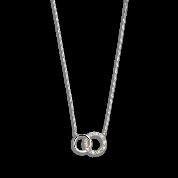Xenox Symbolic Halskette mit Diamanten in 9kt Weißgold 81387, 9010050053650
