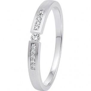 Diadoro Diamonds Damen-Ring Verlobungsring Weißgold 11x Diamant 0,07 ct H/Si 80070, 9120083440638