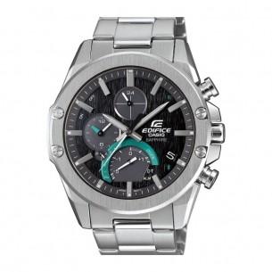 Edifice Casio Edifice Uhren Herrenarmbanduhr Stahl Quarzchronograph Large Schwarz Indexe 81744, 4549526245237