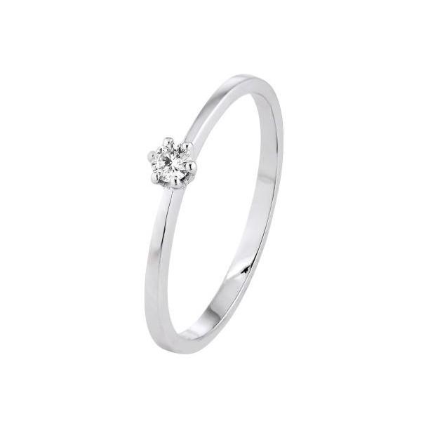 Diadoro Diamonds Damen-Ring Weißgold 1x Diamant 0,10 ct H/Si 80034, 9120083440270