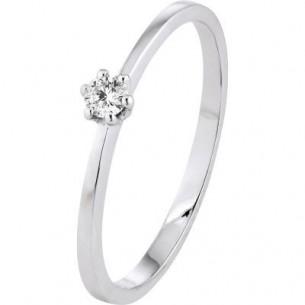 Diadoro Diamonds Damen-Ring Verlobungsring Weißgold 1x Diamant 0,10 ct H/Si 81764, 9120083441444