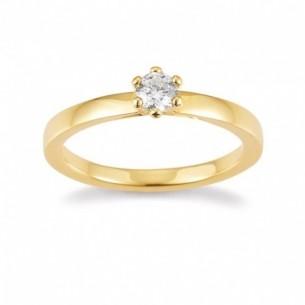 Palido Brillantring Verlobung Gelbgold 585 Brillant 0,25ct H/SI 82085,