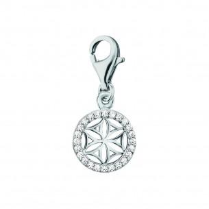 Engelsrufer Charm Lebensblume Silber mit Zirkonia 82147, 4260645869561