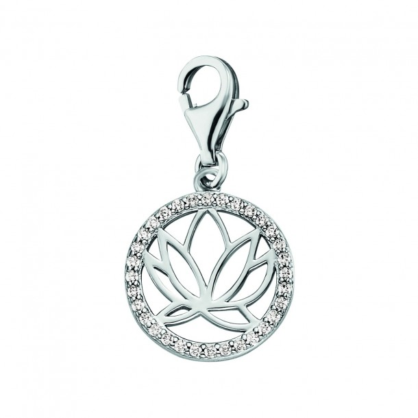Engelsrufer Charm Lotus in Silber mit Zirkonia 82149, 4260645869615