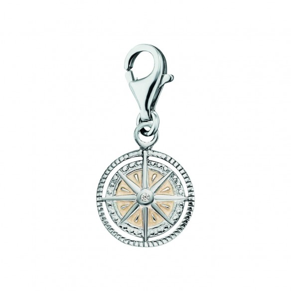Engelsrufer Charm Windrose Silber mit Emaille 82150, 4260645869585