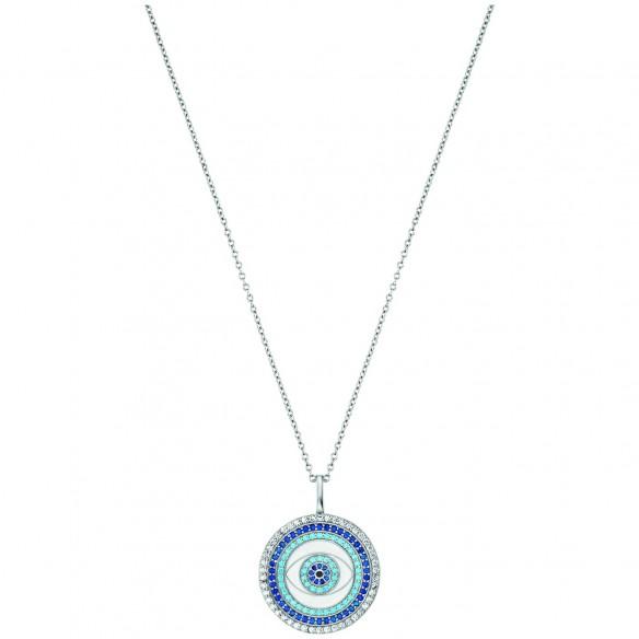 Engelsrufer Collier 'LuckyEye' in Silber 925 mit Emaille und Zirkonia 82160, 4260645869639