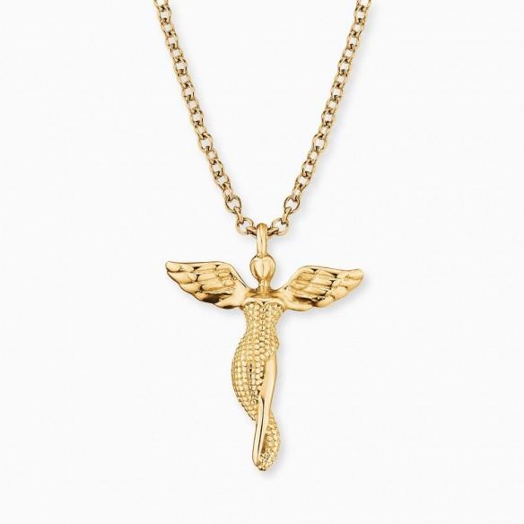 Collier Schutzengel `LilAngel` in Silber vergoldet, ERN-LILANGEL-G