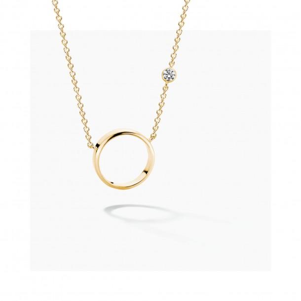 Florian-Julian Feichtinger Halskette Silber vergoldet mit Zirkonia 82182, 9120081463288