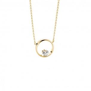 Florian-Julian Feichtinger Halskette Silber vergoldet mit Zirkonia 82181, 9120081460980