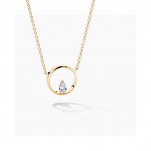 Florian-Julian Feichtinger Halskette Silber vergoldet mit Zirkonia 82185, 9120081461017