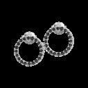 Jacques Lemans Ohrstecker Silber 925/- schwarzer Spinell 82260, 4040662151869