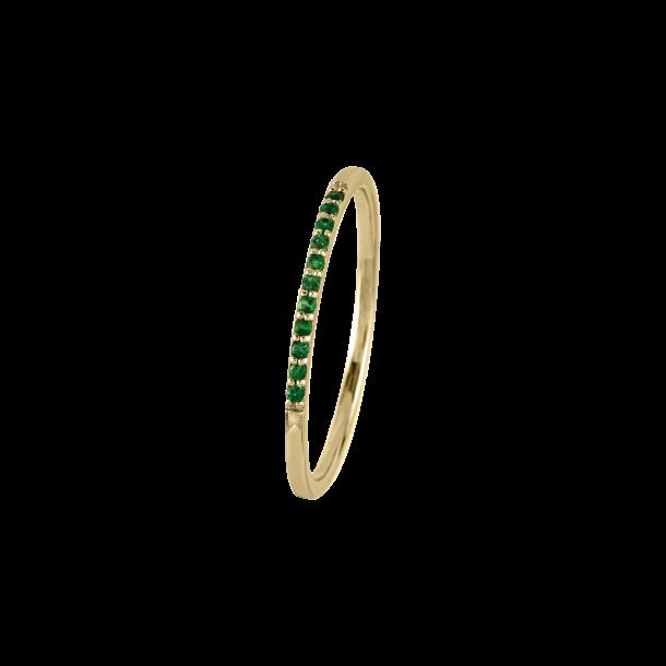 Jacques Lemans Ring silbervergoldet 925/- Onyx grün 82270, 4040662153405