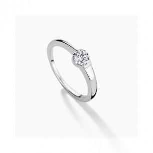 FJF Jewellery Ring Classic Solitär Silber 925/- mit Zirkonia Swarovski 82196, 9120081461710