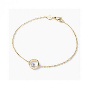 FJF Jewellery Armkette Icon Heart Silber 925/- rose vergoldet mit herzförmigen Zirkonia 82202, 9120081461345