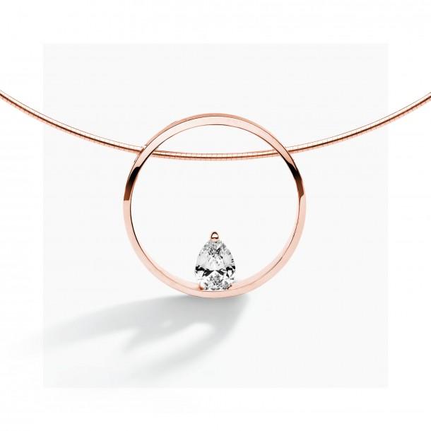 FJF Jewellery Collier Pine 925/-Sterlingsilber 18kt rose goldbeschichtet Zirkonia Swarovski 82343, 9120081460195