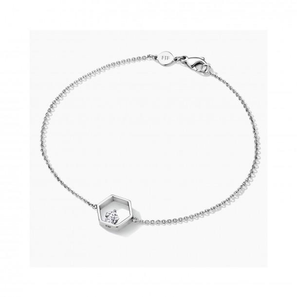 FJF Jewellery Armband Silber 925/- Icon Pentagon Zirkonoxid Swarovski 82554, 9120081461352