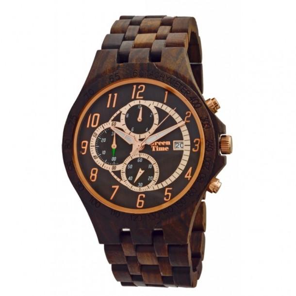 Greentime Holzuhr für Herren aus Sandelholz 82632, 8021087244165