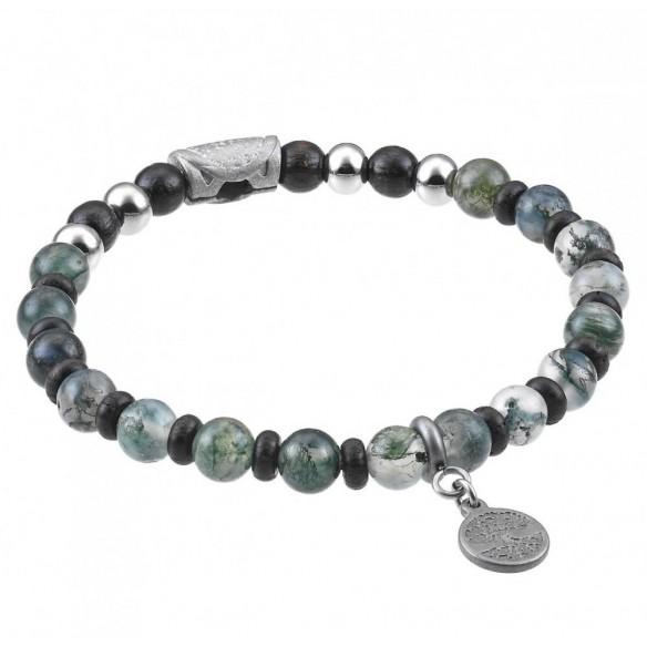 Greentime Armband mit grünem Achat 82650, 8021087249290