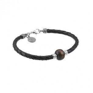 Juwelier Waschier Schwarzes Armband mit Tigerauge 82654, 8021087252719