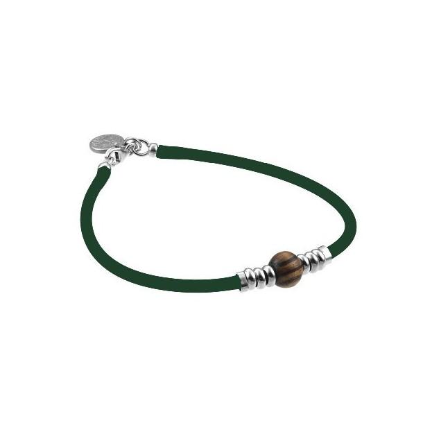 Greentime Grünes Armband mit Tigerauge 82657, 8021087252788