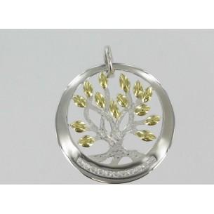 Palido Lebensbaum Silber vergoldet mit Zirkonia 82962, 9010595792748