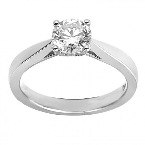 EcoGrown.Diamonds Brillantring labgrown 1,01ct Weissgold 18k 83270,