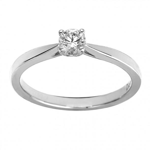 EcoGrown.Diamonds Brillantring labgrown 0.34ct Weissgold 18k 83268,