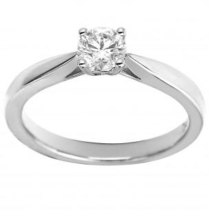 EcoGrown.Diamonds Brillantring labgrown 0,50ct Weissgold 18k 83269,