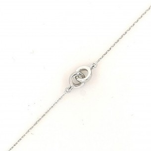 Juwelier Waschier Armband Weissgold Infinity 83263,