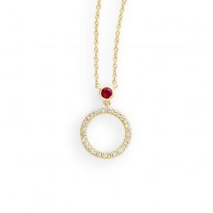 Palido Collier Gelbgold 14k Rubin-Brillant 42 cm 83307, 9010595841071