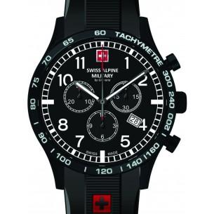Swiss Alpine Military Chronograph mit Kautschukband 83345, 7611751167695