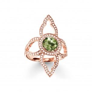 Thomas Sabo - Sterling Silver Silberring rose vergoldet Höhe 3.30 Breite 3.30 60463, 4051245194395