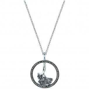 Engelsrufer Halskette mit Anhänger Ginkgo Silber Markasit 83622, 4260645863156